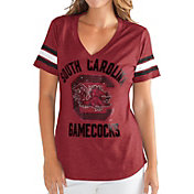 G-III For Her Women's South Carolina Gamecocks Garnet Wildcard V-Neck T-Shirt