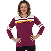Touch by Alyssa Milano Women's Arizona State Sun Devils White/Maroon Offside 3/4 Sleeve Shirt