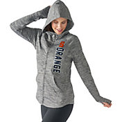 G-III For Her Women's Syracuse Orange Grey Defender Full-Zip Hoodie