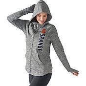 G-III For Her Women's Syracuse Orange Grey Defender Full-Zip Hoodie