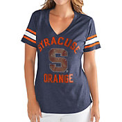 G-III For Her Women's Syracuse Orange Blue Wildcard V-Neck T-Shirt