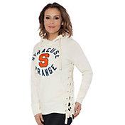 Touch by Alyssa Milano Women's Syracuse Orange Weekend Raglan White Pullover Hoodie