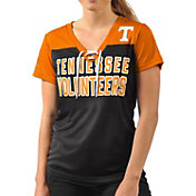 G-III For Her Women's Tennessee Volunteers Shake Down Black V-Neck Top