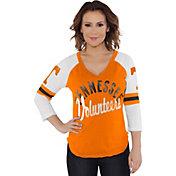 Touch by Alyssa Milano Women's Tennessee Volunteers Tennessee Orange Reflex Raglan 3/4 Sleeve Shirt