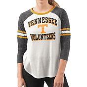 G-III For Her Women's Tennessee Volunteers White/Black Backfield Raglan 3/4 Sleeve Shirt