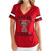 G-III For Her Women's Texas Tech Red Raiders Red Wildcard V-Neck T-Shirt
