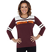 Touch by Alyssa Milano Women's Virginia Tech Hokies White/Maroon Offside 3/4 Sleeve Shirt