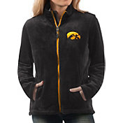 G-III For Her Women's Iowa Hawkeyes Goal Line Black Full-Zip Jacket