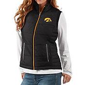 G-III For Her Women's Iowa Hawkeyes Black First Down Polyfill Vest