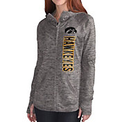 G-III For Her Women's Iowa Hawkeyes Grey Defender Full-Zip Hoodie