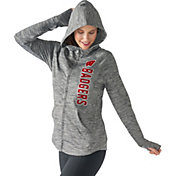 G-III For Her Women's Wisconsin Badgers Grey Defender Full-Zip Hoodie