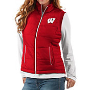 G-III For Her Women's Wisconsin Badgers Red First Down Polyfill Vest
