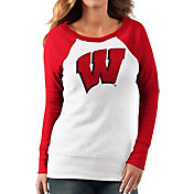 G-III For Her Women's Wisconsin Badgers White/Red Top Ranking Tunic