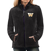 G-III For Her Women's Washington Huskies Goal Line Black Full-Zip Jacket
