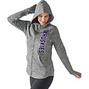 G-III For Her Women's Washington Huskies Grey Defender Full-Zip Hoodie