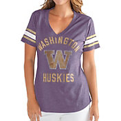 G-III For Her Women's Washington Huskies Purple Wildcard V-Neck T-Shirt
