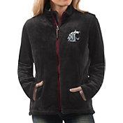 G-III For Her Women's Washington State Cougars Goal Line Black Full-Zip Jacket