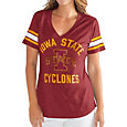 G-III For Her Women's Iowa State Cyclones Cardinal Wildcard V-Neck T-Shirt