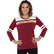 Touch by Alyssa Milano Women's Iowa State Cyclones White/Cardinal Offside 3/4 Sleeve Shirt