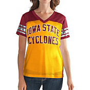 G-III For Her Women's Iowa State Cyclones Fan Club COLOR/COLOR Mesh V-Neck Top