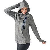 G-III For Her Women's West Virginia Mountaineers Grey Defender Full-Zip Hoodie