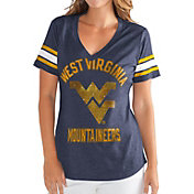 G-III For Her Women's West Virginia Mountaineers Blue Wildcard V-Neck T-Shirt