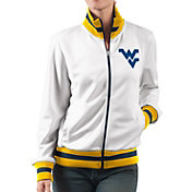 G-III For Her Women's West Virginia Mountaineers Field Goal White Track Jacket