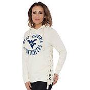 Touch by Alyssa Milano Women's West Virginia Mountaineers Weekend Raglan White Pullover Hoodie