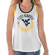 G-III For Her Women's West Virginia Mountaineers Reverse Standing White Tank Top