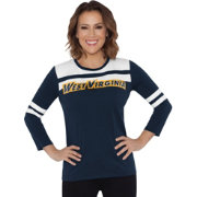 Touch by Alyssa Milano Women's West Virginia Mountaineers White/Blue Offside 3/4 Sleeve Shirt