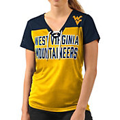 G-III For Her Women's West Virginia Mountaineers Gold Shake Down V-Neck Top