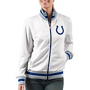 G-III Women's Indianapolis Colts Field Goal Rhinestone Track Jacket