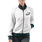G-III Women's Philadelphia Eagles Field Goal Rhinestone Track Jacket