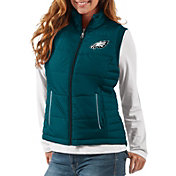 G-III Women's Philadelphia Eagles First Down Green Vest