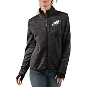 G-III Women's Philadelphia Eagles Slap Shot Black Full-Zip Jacket