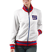 G-III Women's New York Giants Field Goal Rhinestone Track Jacket