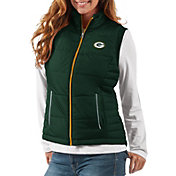 G-III Women's Green Bay Packers First Down Green Vest