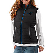 G-III Women's Carolina Panthers First Down Black Vest