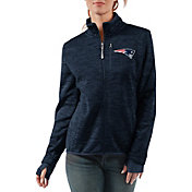 G-III Women's New England Patriots Slap Shot Navy Full-Zip Jacket