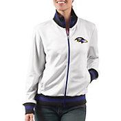 G-III Women's Baltimore Ravens Field Goal Rhinestone Track Jacket