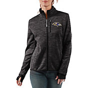 G-III Women's Baltimore Ravens Slap Shot Black Full-Zip Jacket