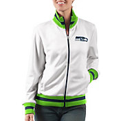 G-III Women's Seattle Seahawks Field Goal Rhinestone Track Jacket