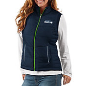 G-III Women's Seattle Seahawks First Down Navy Vest