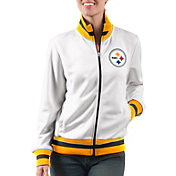 G-III Women's Pittsburgh Steelers Field Goal Rhinestone Track Jacket