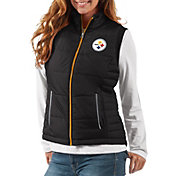 G-III Women's Pittsburgh Steelers First Down Black Vest