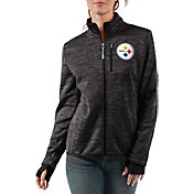 G-III Women's Pittsburgh Steelers Slap Shot Black Full-Zip Jacket