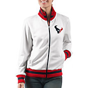 G-III Women's Houston Texans Field Goal Rhinestone Track Jacket