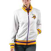 G-III Women's Minnesota Vikings Field Goal Rhinestone Track Jacket