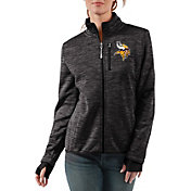 G-III Women's Minnesota Vikings Slap Shot Black Full-Zip Jacket
