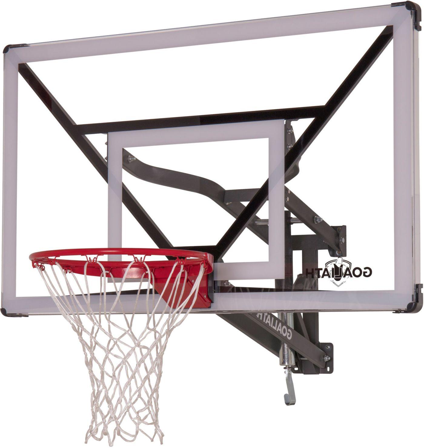 """Goaliath 54"""" Acrylic Wall Mount Basketball Hoop"""